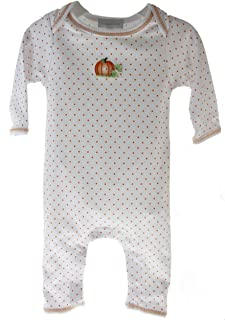 Baby Boys Pumpkin Sleeper Cotton Halloween Thanksgiving Onesie Pajamas