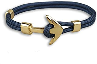 DreamMarker Happiness Jewelry Unisex Nylon Paracord Rope Sailing Bracelet Nautical Anchor Alloy Clasp