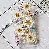 Coque de téléphone Samsung S7 avec fleur pressée et véritable motif floral pour femme