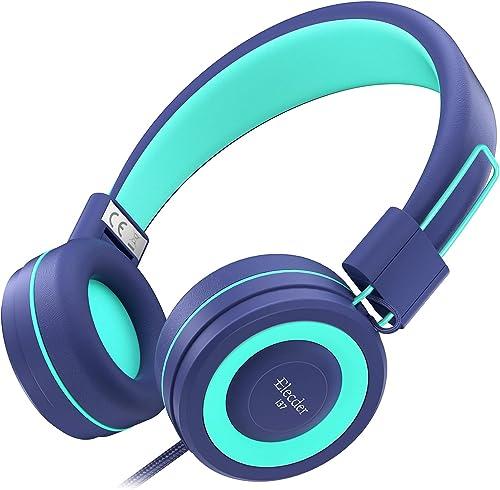 Elecder i37 Kids Headphones Children Girls Boys Teens Foldable Adjustable On Ear Headphones 3.5mm Jack Compatible Cel...