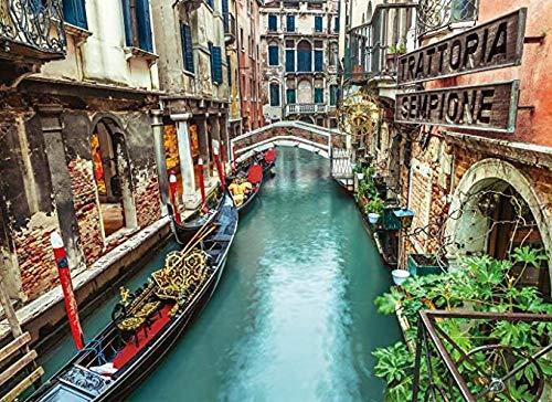 Bahndad Barco conduciendo por el canal de Venecia1000