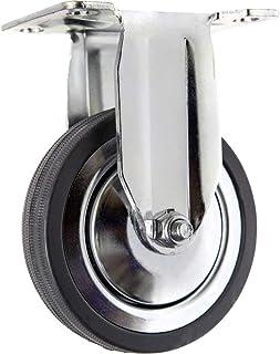 TOOLCRAFT TO-5137932 Bokrol rubber 100 mm met schroefplaat