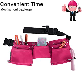 Greatstar Kids Tool Belt, Construction Tool Belt, Child's Tool Apron, Candy Pouch for Youth Dress Up and Costume (Pink)