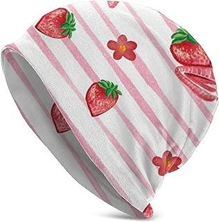 Cartoon Strawberry Peony Classic Unisex Winter Warm Knitting Hats Beanie Hats Skull Cap
