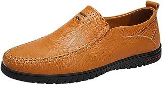 KItipeng Mocassins Hommes en Cuir,Pas Cher Penny Loafers Conduite Bateau Chaussures,Chaussures De Conduite Flats,Respirant...