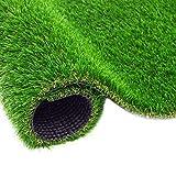BYCDD Turfal Erba Artificiale Realistico, Resistenza ad Alta Temperatura 15mm Resistenza al Tappeto Sintetico Realistico per Il Prato per Giardino Esterno Interno,Green_4x2m/12x6ft