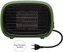 Radiadores electricos bajo consumo aceite,Calentador eléctrico para ventilador doméstico Mini calentador Portátil de ahorro de energía rápido Calentador práctico Calentador de cerámica PTC-Verde