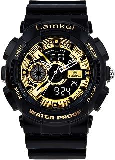 Lamkei Analogue - Digital Men's Watch (Black Dial Black Colored Strap)