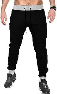 BLIVE Men's Joggers Track Pants Black Grey