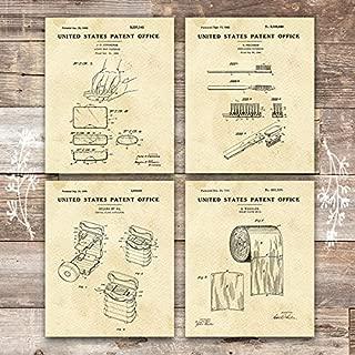 Bathroom Patent Art Prints (Set of 4) - Unframed - 8x10s