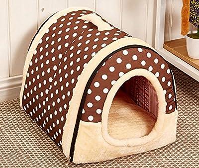 2 en 1 casa de mascotas y sofá, lavable a máquina, diseño de estrellas, antideslizante, plegable, suave, cálido, para perro, gato, cachorro, conejo, mascota, caseta con cojín extraíble y colchón de cachemira desmontable