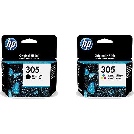 HP 305 - 3YM61AE/3YM60AE Multipack Lot de cartouches d'encre originales Noir et trois couleurs