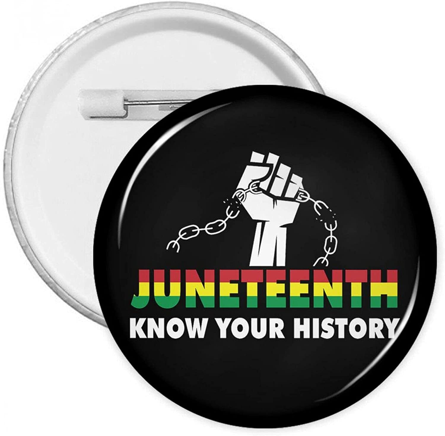 Juneteenth Black History Pin Buttons Round Badges Brooch Lapel Pin