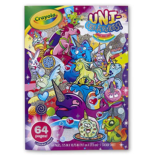 Crayola Uni-Creatures Coloring Book, 64 Unicorn Coloring Pages, Gift for Kids, Ages 3, 4, 5, 6,
