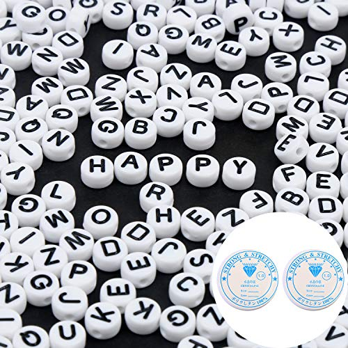 $2.70 600PCS Acrylic White Craft Letter Beads Use promo code:  70OHW8IN There is a quantity limit of 1