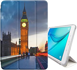 STPlus Big Ben London UK Postcard View Smart Cover with Back Case + Auto Sleep/Wake Function + Stand for Samsung Galaxy Tab S2-8.0