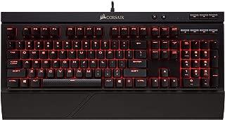 Corsair K68 Mechanical Gaming Keyboard-RED Backlit-Cherry MX Red - Black