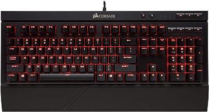 Corsair K68 RGB mechanisch gaming-toetsenbord, achtergrondverlichting, RGB-LED, stof- en spatwaterdicht, lineair en stil, Cherry MX Red Kersen MX rood effen