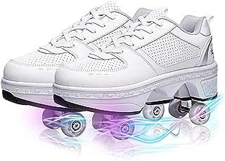Zapatos con Cuatro Ruedas Automática Calzado de Skateboarding Deportes de Exterior Patines en Línea Aire Libre y Deporte V...
