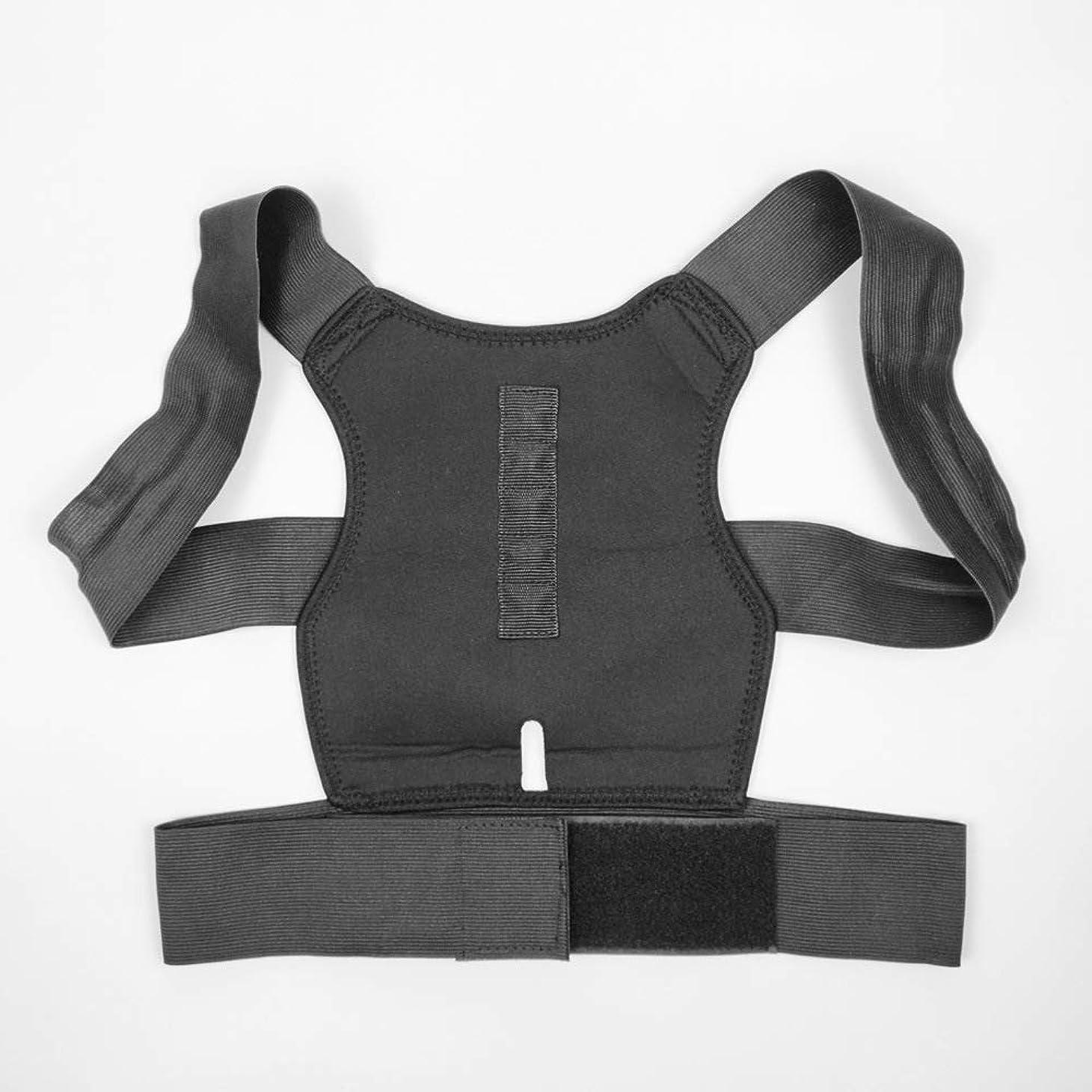 美徳折り目幻想姿勢矯正理学療法調節可能バックブレースサポート肩や首の痛みを軽減(ワンサイズ)
