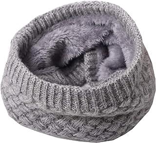 Chihom 冬季幼儿围巾 适合大男孩女孩(8-16 岁)青少年圆形围巾带柔软羊毛
