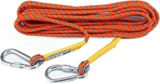 MUMAI Outdoor Climbing Rope with Hook,10M(32ft),20(64ft),30M(98ft),50M(164ft),Downhill Climbing Equipment,Rock Climbing Rope,Life-Saving Rope,Fire-Survival Rope,Rescue Equipment,Orange (10)