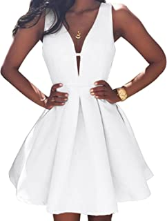 Ellenhouse Women's V-Neck Sexy Mini Homecoming Dresses Short Party Gowns