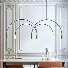 Nordic Moderne Minimalistische Drie-hoofd Smeedijzeren Metalen Eetkamer Woonkamer Kroonluchter Maat 90cm * 55cm Lampen en ...