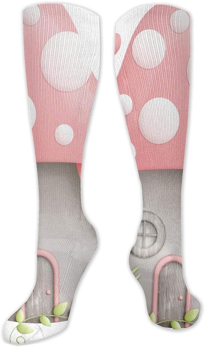 Flowers Mushroom House Knee High Socks Leg Warmer Dresses Long Boot Stockings For Womens Cosplay Daily Wear