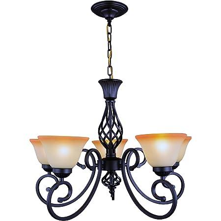 Amazon Com Design Classics Lighting Modern 5 Light Chandelier Hanging Light Fixture With Alabaster Glass In Bronze Finish Home Improvement