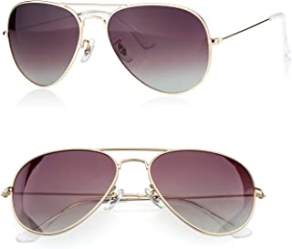 PINGLAS Classic Aviator Sunglasses for Men Women Metal Frame Polarized Coating Lens, UV400