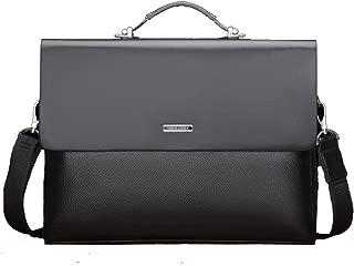 CHAO RAN Mens Leather Briefcase Laptop Handbag Messenger Business Bag
