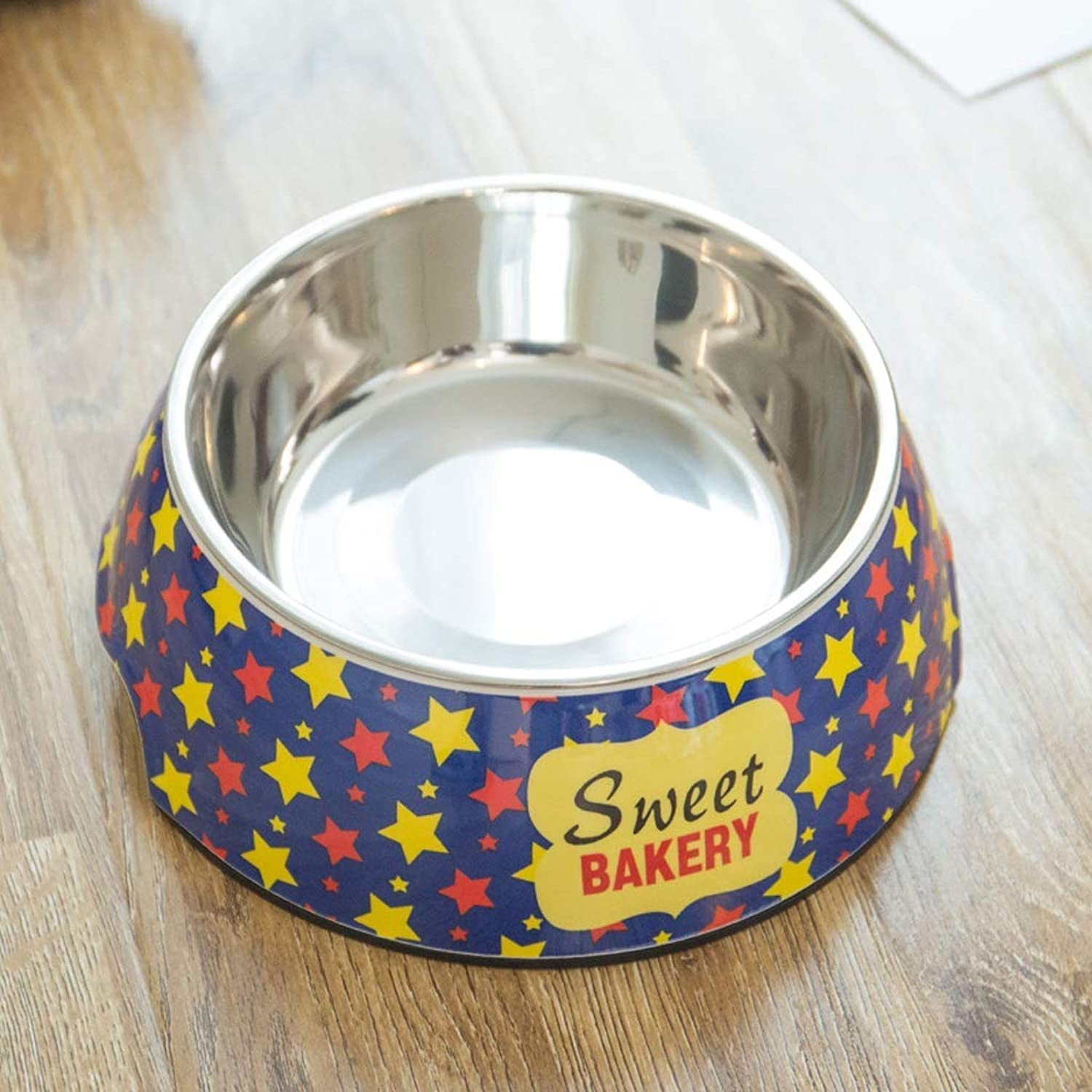 ANDRE HOME Dog Food Bowl Stainless Steel NonSlip Double Layer Single Bowl Cat Bowl bluee Pet Supplies