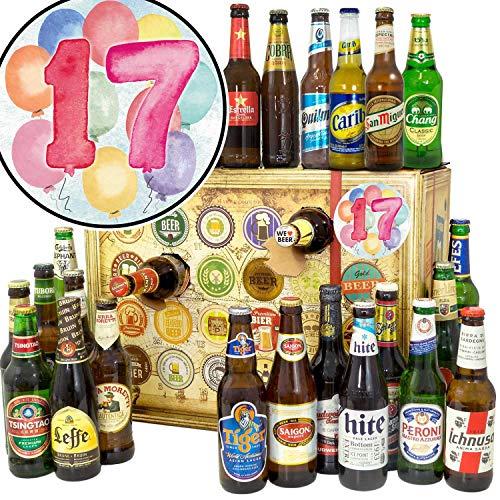 Geschenk zum 17. + Bier Adventskalender Welt + Bier Set Biere aus aller Welt