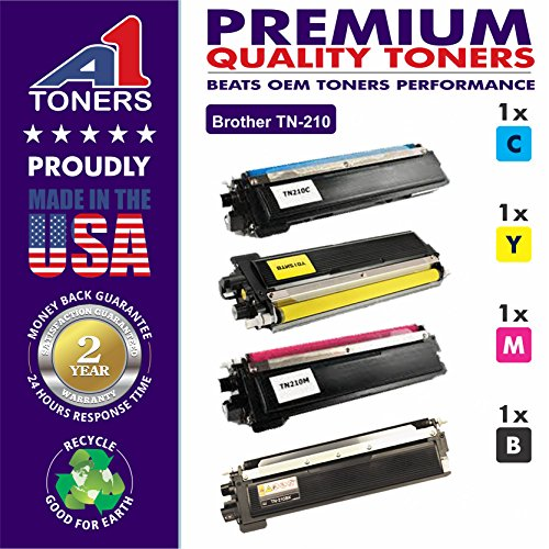 A1 Compatible Laser Toner Cartridge for replacement of Brother TN-210 Set of 1Black, 1Cyan, 1Magenta, 1Yellow. Suitable Printers � Brother MFC-9320CW MFC-9325CW HL-3070CW HL-3075CN
