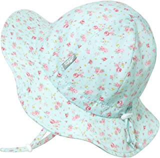Kids 50+UPF Cotton Sun-Hat, Adjustable for Growth with...