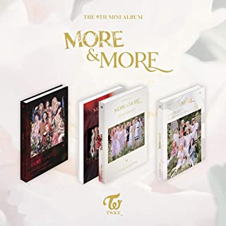 JYP Twice More & More (9th Mini) [C ver] Album+Pre-Order Benefit+Official Folded Poster+Kpop Idol Mask+Extra Photocard (C ver)