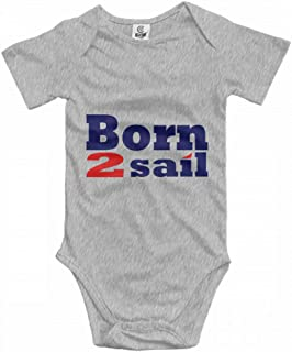 Baby Climbing Clothes Set Born to Sail Sailing Bodysuits Romper Short Sleeved Light Onesies