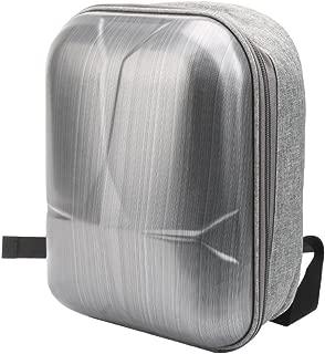 TELESIN DJI Mavic Air用バックパックケース 保護 防水 耐衝撃 調節可能なパッド入り ショルダーバッグ 発泡硬質プラスチックインレイ、クワッドコプター、トランスミッター、バッテリーと他のアクセサリー収納用 (グレー+ブラック)