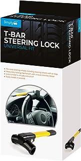 Simply SWL200 T-Bar Steering Wheel Heavy Duty Locking Mechanism, Yellow