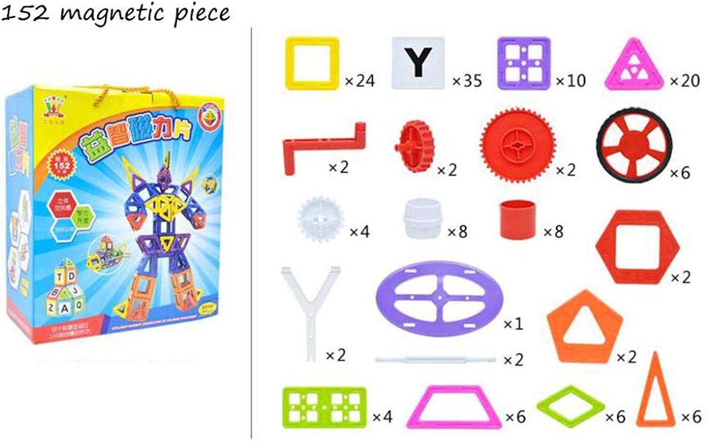 QXMEI Kinder Bausteine Spielzeug Magnet Puzzle Zauber Einsatz Gre  11,8  4,7  8,3 Zoll,152PCS