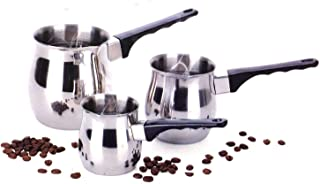 Classic Turkish Coffee Wamer & Server Set 3 Piece Make and Serve Delicious Traditional Turkish Coffee