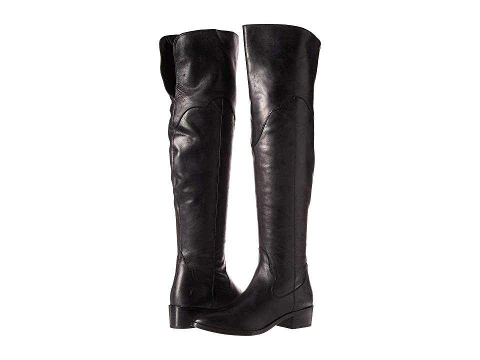 Frye Ray Over the Knee (Black Polished Soft Grain) Women