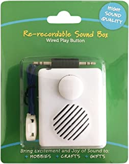 High Sound Quality - Easily Re-recordable Sound Box - Wired Play Button - Record from Any Device with Audio Port