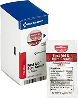 First Aid Only FAE-7011 SmartCompliance Refill Burn Cream, White, 10 Count