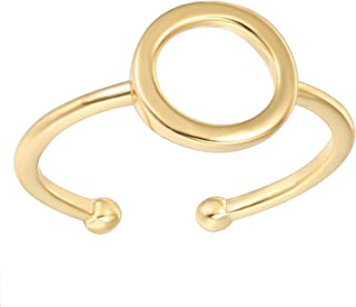 PAVOI خواتم مطلية بالذهب عيار 14 قيراط للنساء | خاتم دائرة كارما الذهبية | خواتم قابلة للتكديس