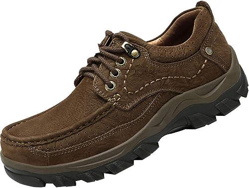 Hhoro zapatos de Hombre. zapatos de Exterior. zapatos para Caminar. (Color   marrón, tamaño   41EU)
