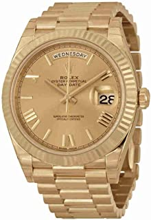 d7b7ca6ad9661 Rolex Day-Date 40 Automatic Champagne Dial 18kt Yellow Gold Mens Watch  228238CRSP