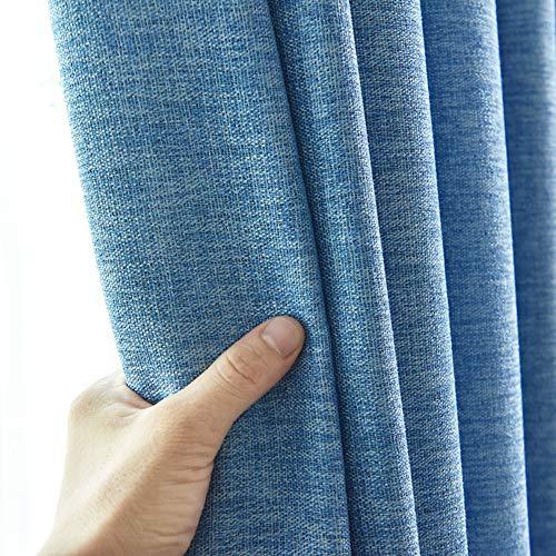 fgdsa Thermische Dimout Vorhang,verdicken Verschleißfeste Licht Blocken Vorhang,Anti-verfärbung Rohe Flachsfensterbehandlung,1 Stück-a 250x270cm(98x106inch)
