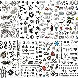 COKTAK 8 Pieces/Lot Small Sexy Lips Leaf Black Cartoon Temporary Tattoo For Kids Cute Star Children Tattoo Sticker Infinite Love Women Body Finger Art Waterproof Tatoos Sheet Girls Paper Diamonds